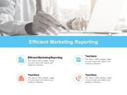 Efficient Marketing Reporting Ppt Powerpoint Presentation Infographics Graphics Cpb