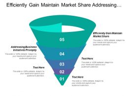 Efficiently Gain Maintain Market Share Addressing Business Initiatives Promptly