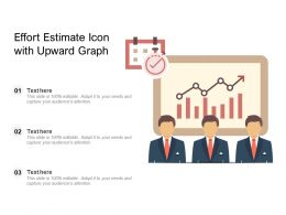 Effort Estimate Icon With Upward Graph