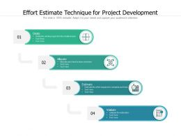 Effort Estimate Technique For Project Development