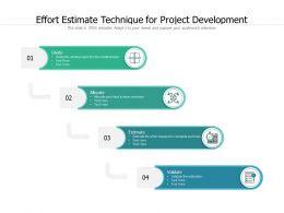 Effort Estimate Technique For Project Development