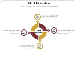 Effort Estimation Ppt Powerpoint Presentation Styles Design Templates Cpb
