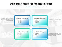 Effort Impact Matrix For Project Completion
