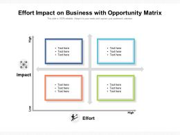 Effort Impact On Business With Opportunity Matrix