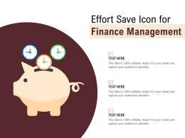 Effort Save Icon For Finance Management