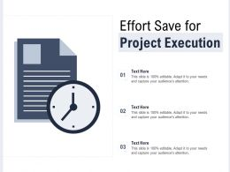 Effort Save Icon For Project Execution