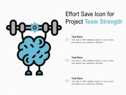 Effort Save Icon For Project Team Strength
