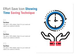 Effort Save Icon Showing Time Saving Technique