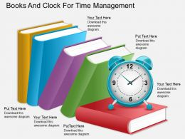 eg_books_and_clock_for_time_management_powerpoint_template_Slide01