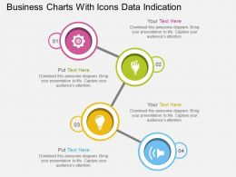 Eg Business Charts With Icons Data Indication Flat Powerpoint Design