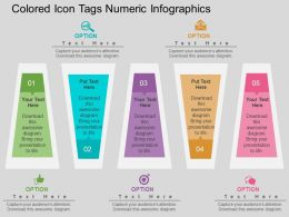 eg Colored Icon Tags Numeric Infographics Flat Powerpoint Design