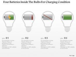 Eg Four Batteries Inside The Bulbs For Charging Condition Powerpoint Template