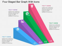 Eg Four Staged Bar Graph With Icons Flat Powerpoint Design