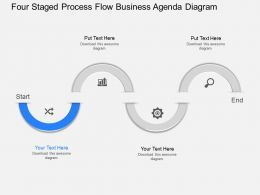 eg Four Staged Process Flow Business Agenda Diagram Powerpoint Template