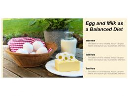 Egg And Milk As A Balanced Diet