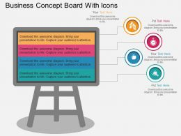 Eh Business Concept Board With Icons Flat Powerpoint Design