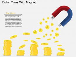 eh Dollar Coins With Magent Flat Powerpoint Design