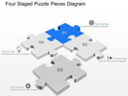 eh Four Staged Puzzle Pieces Diagram Powerpoint Template