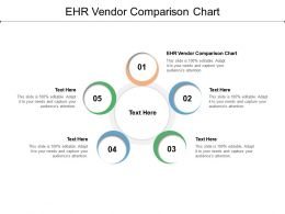 EHR Vendor Comparison Chart Ppt Powerpoint Presentation Inspiration Slide Cpb