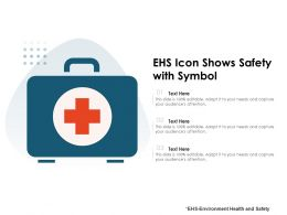 EHS Icon Shows Safety With Symbol