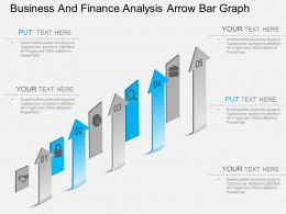 ei Business And Finance Analysis Arrow Bar Graph Powerpoint Template