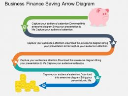Ei Business Finance Saving Arrow Diagram Flat Powerpoint Design