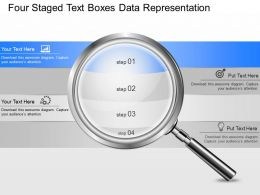 ei Four Staged Text Boxes Data Representation Powerpoint Template