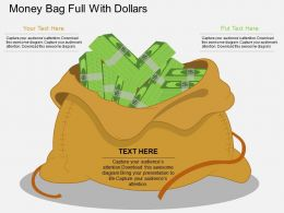 ei Money Bag Full With Dollars Flat Powerpoint Design
