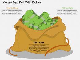 ei Money Bag Full With Dollars Flat Powerpoint Design