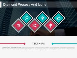 ei Six Staged Diamond Process And Icons Flat Powerpoint Design