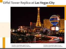 Eiffel Tower Replica At Las Vegas City