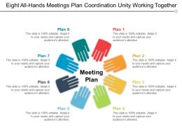 Eight All Hands Meetings Plan Coordination Unity Working Together
