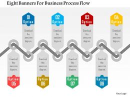 Eight Banners For Business Process Flow Flat Powerpoint Design