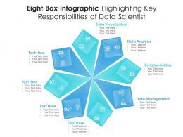 Eight Box Infographic Highlighting Key Responsibilities Of Data Scientist