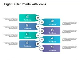 Eight Bullet Points With Icons