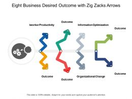 Eight Business Desired Outcome With Zig Zacks Arrows