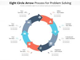 Eight Circle Arrow Process For Problem Solving