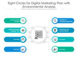 Eight Circles For Digital Marketing Plan With Environmental Analysis