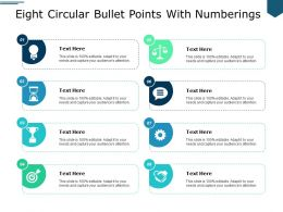 Eight Circular Bullet Points With Numberings