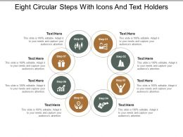 Eight Circular Steps With Icons And Text Holders