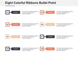 Eight Colorful Ribbons Bullet Point