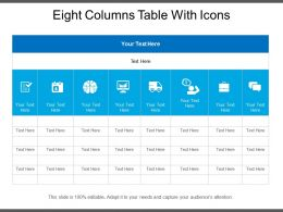 Eight Columns Table With Icons