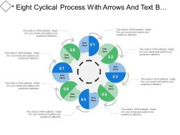 Eight Cyclical Process With Arrows And Text Boxes