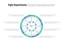 Eight Departments Circular Organizational Chart
