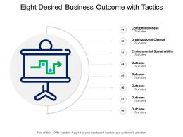 Eight Desired Business Outcome With Tactics