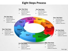 Eight flow diagram Steps Process 11