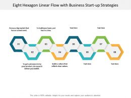 Eight Hexagon Linear Flow With Business Start Up Strategies