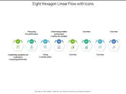 Eight Hexagon Linear Flow With Icons
