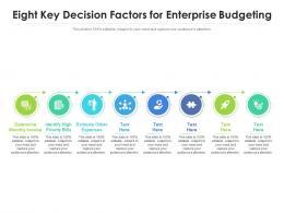 Eight Key Decision Factors For Enterprise Budgeting