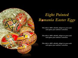 Eight Painted Romania Easter Eggs